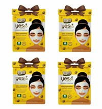 Yes to Coconut Hydrate & Restore Ultra Hydrating Mask - Lot of 4 Masks