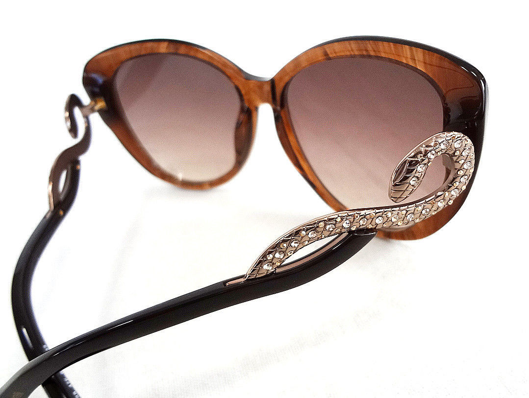 Roberto Cavalli Women's Sunglasses RC736S 60-16-135 Brn/Gold MADE IN ITALY - New