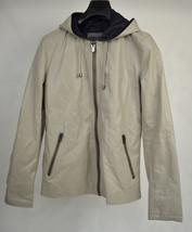 Zara Man Jacket Hoodie Faux Leather M Mens NWT - $29.70