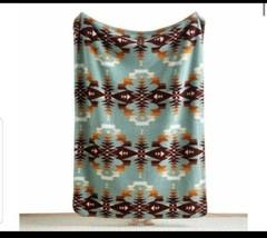 "Pendleton Home  Avra Valley Teal fleece Sherpa Throw Blanket  50"" x 70"" new - $87.12"