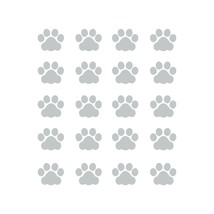 LiteMark 1 Inch Grey Cat Paw Prints - Pack of 60 - $19.95