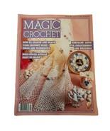 Magic Crochet Magazine February 1985 #34 Baby Wedding Items Keepsakes & ... - $9.29
