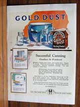 1922 Gold Dust Twins Fairbank's Gold Dust Powder Ad Canning Jars Enamele... - $8.86