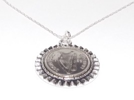Gear Pendant 1933 Irish sixpence 84th Birthday + 18 inch Sterling Silver... - $16.77