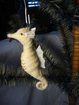 Vnitage Spun Cotton Christmas Sea Horse no. A52 image 1