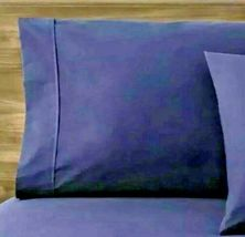 Made By Design Solid Easy Care Pillowcase Set STANDARD Blue Amethyst  -NEW!   image 3