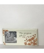 """Photo Frame with Quote Holds 3"""" X 3"""" Photo Floral """"the greatest gift is ... - $14.57"""