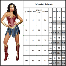 Wonder Woman Superhero Cosplay Deluxe Adult Costume image 5