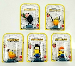 Minions The Rise Of Gru Lot of 5 Figurines Cake Toppers Mattel NEW SEALED - $14.99
