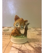 Vintage Bisque Porcelain Kitten With Mouse Figurine  - $0.00
