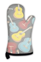 Oven Mitt, Pattern Isolated Guitars - $31.19