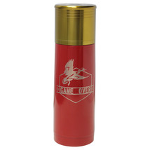 Game Over Duck Hunt -Engraved 25 oz Red Gun Shell Double Wall Insulated ... - $34.25