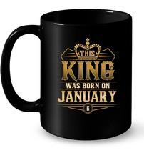 This King Was Born On January 6 s Capricorn Pride Gift Coffee Mug - $13.99+