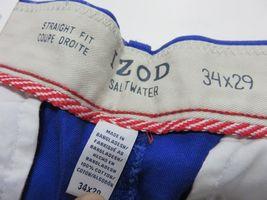 NOS w/ TAGS IZOD Saltwater Mazarine Blue Men's Straight Fit Pants Size W34 L29 image 9