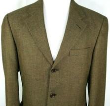 SFI Mens Cashmere Sport Coat Size 40 Regular Loro Piana Gold Black Nailh... - $69.25