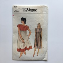 Vintage Vogue 8638 Boho Empire Waist Pullover Dress Misses 8-12 Sewing P... - $8.75