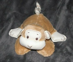 Baby Gund 319884 Silly Stripes Monkey Brown Tan Cream Plush Stripe Rattl... - $59.39