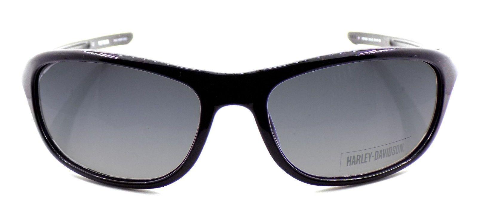 Harley Davidson HDX862 BLK Wraparound Sunglasses Black 67-19-135 Smoke Gradient