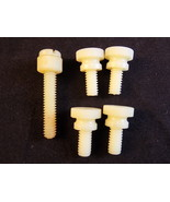 "PLASTIC SLOTTED THUMB SCREWS 1/4"" diameter 4- .5"" T & 1-1.25"" T Thumb Bolts - $5.49"