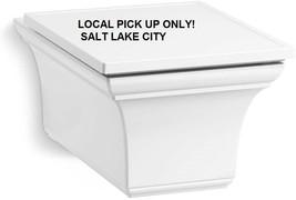 KOHLER 6918-0 One Piece Memoirs Elongated Dual-Flush Wall-Hung Toilet, White - $237.50