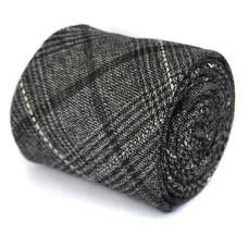 Frederick Thomas slim nero e grigio tweed a quadri 100% CRAVATTA di lana ft1941
