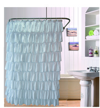 Ruffles Shower Curtain  Polyester Bath Bath Curtain Screen - $41.41