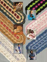 Crochet Mile A Minute Menagerie Annie's Attic Afghan Shawl Slippers Pattern - $11.99