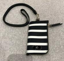 Kate Spade Edria Wilson Road Black/White  Nylon Card Holder Wallet WLRU5250  - $49.47
