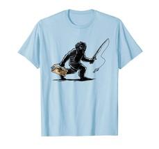 Sport Shirts - Fishing Bigfoot T-Shirt for Fish & Sasquatch Fans Men - $19.95+