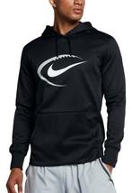 Mens Nike Black Therma-Fit Football Performance Training Hoodie 30% off ... - $38.49