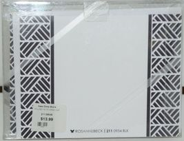 Rosanne Beck 211 0954BLK Folded Note Grad Cap Black Cards and Envelopes Pkg 10 image 3