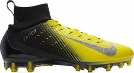 Nike Vapor Untouchable Pro 3 Black Yellow Football Cleats 917165-006 - $54.95