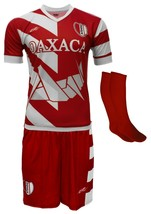 Oaxaca Mexico Uniform Color Red/White Jersey,short,socks and number - $34.99