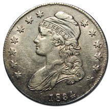 1834 Capped Bust Half Dollar 50¢ Coin Lot# EA 255