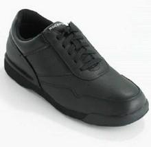 Rockport M7108 Prowalker Black Leather Shoes SNEAKERS-Size 7 - $64.34