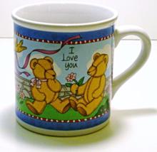 Russ Berrie Occasion's 'I Love You' Hot Beverage Mug Teddy Bears - $8.00