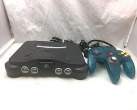 Nintendo 64 N64 Black Console Complete Bundle Expansion Pack Ice Blue Co... - $98.99