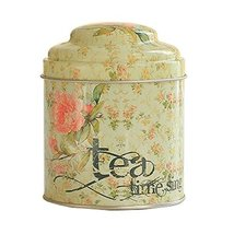 Kylin Express Unique Style Double-Deck Lids Tin Tea Canister Tea Storage Contain - $16.55