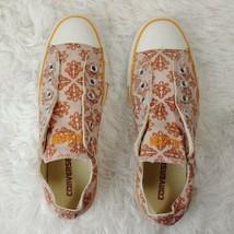 Converse All Star Low Top Orange Mosaic Sneakers #5Z033 Women's 8.5 - $42.08