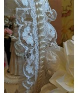 Romantic Hand Crafted Wedding Cake Topper Center Piece w/ Bride Groom Fi... - $48.51