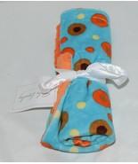 Baby Laundry Minky Blanket Orange Brown Yellow Unisex - $19.00