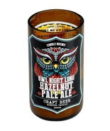 Owl Night Long Hazelnut Pale Ale Beer Scented Candles in Brown Glass Jar - $18.28