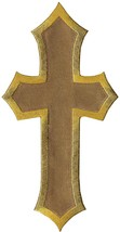 Simplicity Gold Cross Applique Clothing Iron On Patch, 1.3'' x .75'' - $5.82