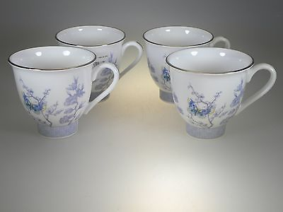 Royal Worcester Kimono Teacups Set of 4 NEW WITH TAGS Made in England