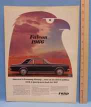 Vintage 1966 Magazine Ad for Ford Motor Company on Falcon Futura Sports Coupe - $5.93