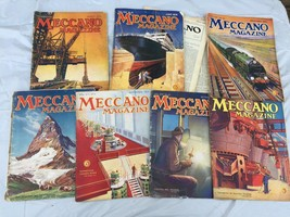 1929 MECCANO MAGAZINE Lot of 9 Old Issues Erector Set Building Ads - $79.20