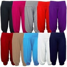 Women 3/4 Hareem Ali Baba Loose Baggy Trousers Pants Ladies Crop Shorts Leggings - $10.36