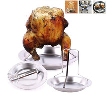Chicken Duck Holder Rack Grill Stand Roasting Non Stick Stainless Steel ... - $13.01