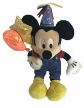 """Disney Party Mickey 8"""" Plush w/Overalls & Balloons Sewn Eyes - $24.74"""