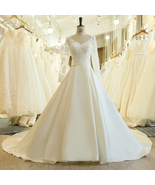 A-line w/ Sash Wedding Dress 2019 New Long Sleeve & Lace Appliques - $310.93